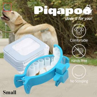 New Piqapoo Pet Dog Poop Bag Tail Holder Poo Pack Clip Waste Picker 20 Pack Bags (Small)