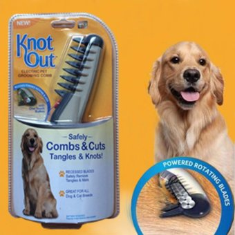 New Portable Pet Electric Shaver Safety Dog Hair Trimmer PetComfortable Comb PT004 - intl