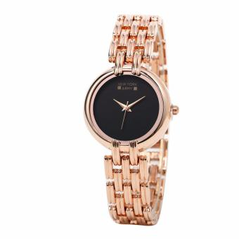 Newyork Army Black Dial Rosegold Strap Bracelet Ladies Watch NYA221