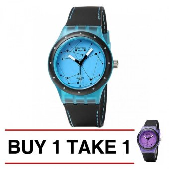 Newyork Army Constellation Print Silicone Strap Watch NYA1288 (Sky Blue) Buy 1 Take 1 NYA1288 (Purple)