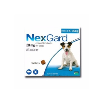Nexgard Anti Tick and Flea Chewable Tablets For Dogs 4-10kg