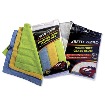 NFSC - Auto-Gard Microfiber Glass Cloth & Microfiber Starter Pack Cloth