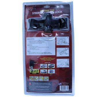 NFSC - Red X T-shape Universal Steering Wheel Lock - 3