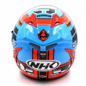NHK GP Terminator Beyond Full Face Motorcycle Helmet (BlueFlourescent/Orange) - 4