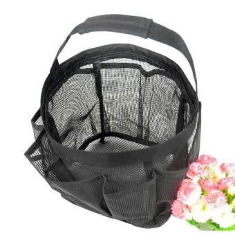 niceEshop Portable Mesh Shower Accessories Tote Organizer (Black) - picture 2