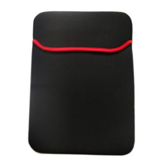 niceEshop Reversable Neoprene Notebook Laptop Sleeve Cover for 15 Inch Asus Dell HP Notebook (Black and Red)