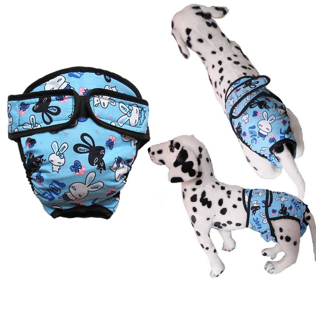 NICESHOP L Washable Reusable Unisex Male Female Dog Pet Bicth inSeason Heat Panty Hygiene Pants Comfy ...