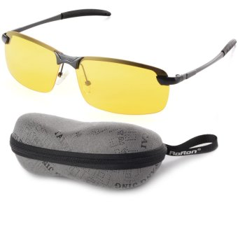 Night Vision Driving Glasses Polarized Sunglasses (Yellow Lens+Black Frame) OS386-SZ Price Philippines