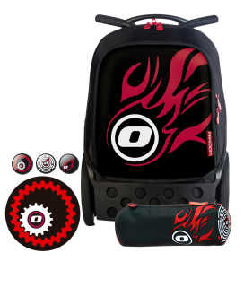Nikidom Roller RL-9003 Large Trolley Bag (Fire) with Set of Button Pin, Wheel Sticker and Pencil Case Price Philippines