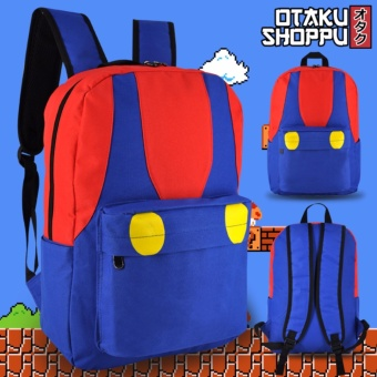 Nintendo Super Mario Shirt Style Unisex Everyday Backpack (Blue and Red) Price Philippines