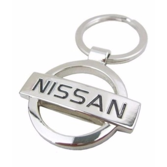 Nissan Chrome Plated Steel key chain key ring car logo
