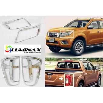 Nissan Navara NP300 2015+ (2 Set) Headlight and Tailight CoverChrome Protector