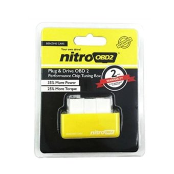 Nitro OBD2 For Petrol Car Chip Performance Tuning Plug & PlayAuto ECU Remap (Yellow) - intl Price Philippines