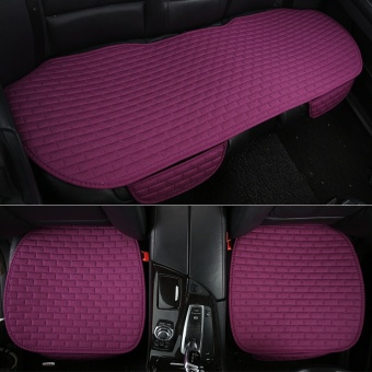 No back car cushion, single piece, three piece set, free strap, anti-skid pad, four seasons, general linen, automobile supplies, cushion - intl