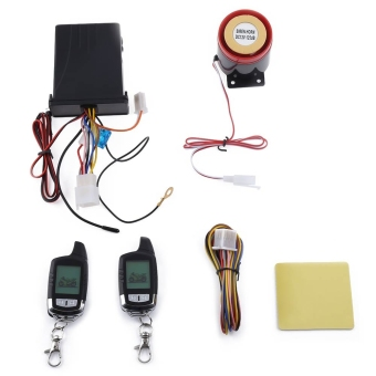 NT - MS002 Universal Water Resistance Two Way LCD Motorcycle Anti-theft Security Alarm System - intl