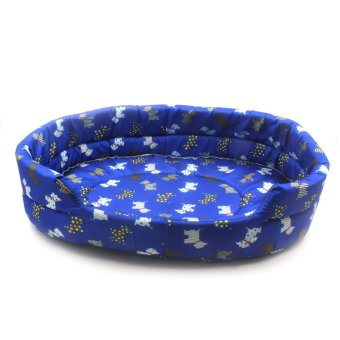Nunbell Large Dogs Paws and Bones Pet Dog Bed (Blue) Mega 57x50x14cm