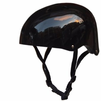 Nutshell Half Face Crash Safety Passenger Helmet (Black)
