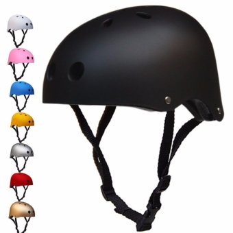 Nutshell Half Face Crash Safety Passenger Helmet (Matte Black)