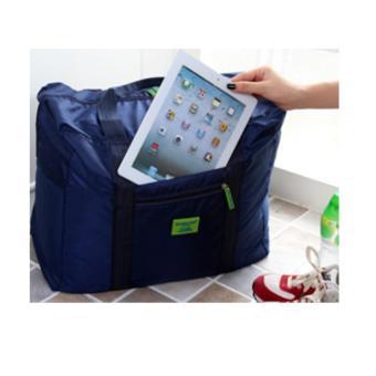 Nylon Folding Suitcase Handbag Storage Luggage Pouch Shoulder ToteTravel Bag Clothes Organizer (Blue) - 2