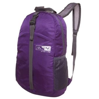 Nylon Waterproof Sports Folding Backpack (Purple) - picture 2