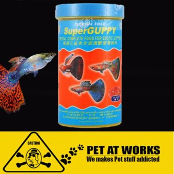 Ocean Free Super Guppy (280ml) Fish food Aquarium fish tank guppiesfeeds (Blue)