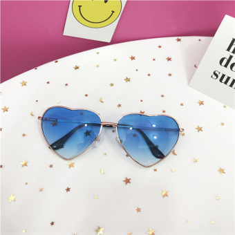 Ocean piece gradient heart-shaped sun glasses sunglasses