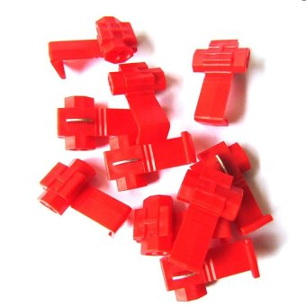 OEM 22-18 AWG Ez Tap Car Scotch Locks Quick Splice for Car Electrical Terminals Set of 10 (Red) - 2
