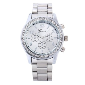 OEM Casual Men's Silver Stainless Steel Strap Watch 8462