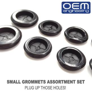 OEM Engineering Car Small Grommets Assortment Set of 12 pcs