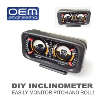 OEM Engineering DIY car Inclinometer 4X4 Offroad Car Gauge Carcompass