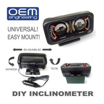 OEM Engineering DIY car Inclinometer 4X4 Offroad Car Gauge Carcompass - 4