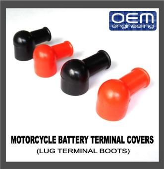 OEM Engineering Motorcycle Battery Terminal Covers (Lug TerminalBoots) 3's Small (gauge 8 to gauge 4)