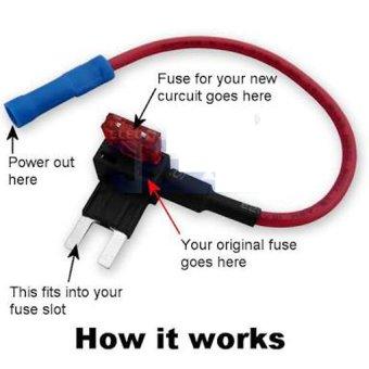 OEM Fuse Tap Holder Adapter for Mini Fuses (ATM APM) (Black) - 4
