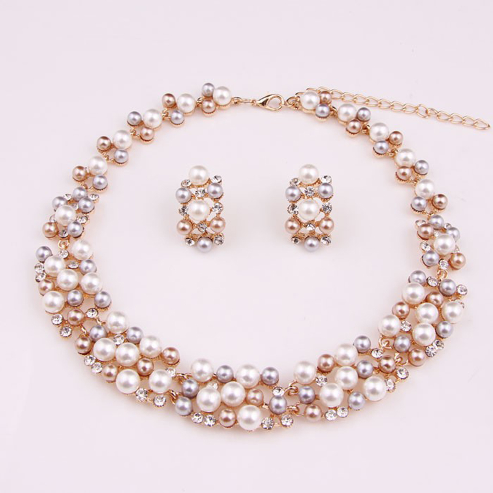 Affordable OH Imitation Pearl Gold Plated Simple Elegant Bridal