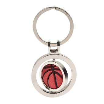 OH Personality Sports Rotating Basketball Keychain Small GiftsPendant Key Rings Silver - intl Price Philippines