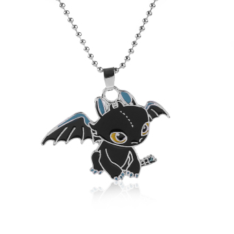 Okdeals New Toothless Dragon Pendant Necklace Metal CharmingNecklace Cosplay Jewelry Gift