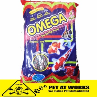 Omega Fish Food Pellets (1000g) With Spirulina For Pets Small andBig Fish Food