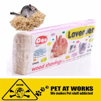Ono Wood Shaving - Lavander (1kg) for hamster and other petsdeodorant natural wood pet