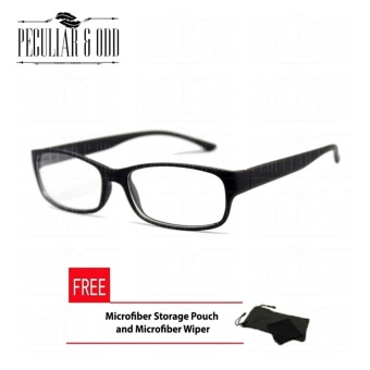 Optical Rectangular Lightweigth Eyeglass 2087_Black Replaceable Lenses with Spring Hinges_Unisex