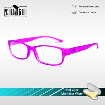 Optical Rectangular Lightweigth Eyeglass 2087_Pink Replaceable Lenses with Spring Hinges_Unisex