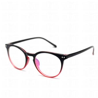 Optical Round Lightweigth Flexible Spectacles 2283_BlackRed Multi-coated Computer Anti-Radiation Blue Lens Replaceable Lens_Unisex - 4