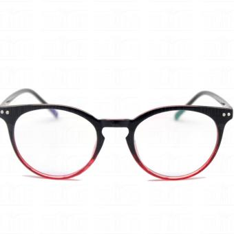 Optical Round Lightweigth Flexible Spectacles 2283_BlackRed Multi-coated Computer Anti-Radiation Blue Lens Replaceable Lens_Unisex - 2