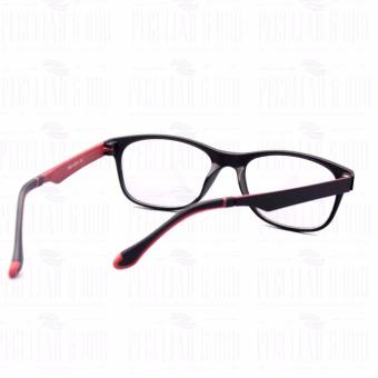 Optical Square 8609_BlackRed Clear Lens Lightweight Replaceable Eyeglasses Multi-coated Computer Anti-Radiation Blue Lens - Unisex - 5