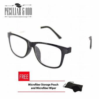 Optical Square 8615_BlackWhite Clear Lens Lightweight Replaceable Eyeglasses Multi-coated Computer Anti-Radiation Blue Lens - Unisex