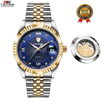 Original TEVISE Mens Watches Automatic Mechanical Men Watch MensWristwatches Luxury Men Boys Watches Clock relogio masculino629