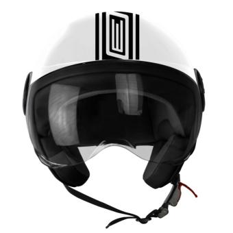 ORIGINE 00092 Neon Street Glossy White Open Face Helmet (2017Collection) - XL