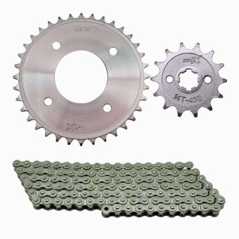 Osaki 420X14TX32TX110L Sprocket and Chain for XRM/WAVE (All Chrome)