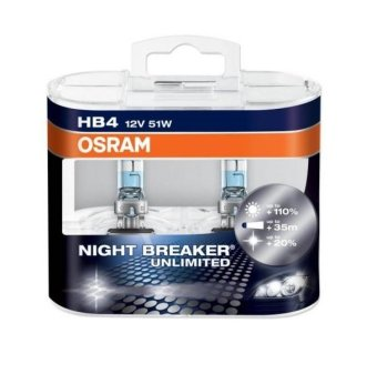 Osram HB4 (9006) Night Breaker Unlimited Headlamp Bulbs