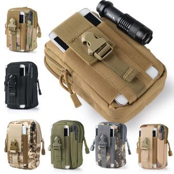Outdoor Sports Tactical Pockets M 5.5 / 6 inch Waterproof Bag 600DWaterproof Nylon Phone Running Belt Waist Bag(Black) - 3