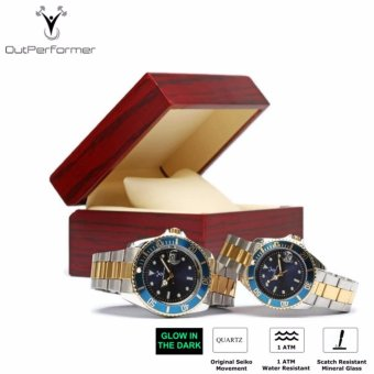 Outperformer Chronology Series Aspirations Couple's Watches Set of2 with Wooden Gift Box